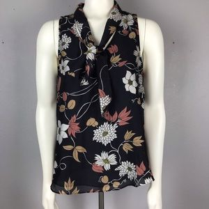 Anthropologie Maeve Silk Floral Top Bow 6